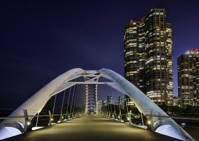 Humber Bay Arch at Night