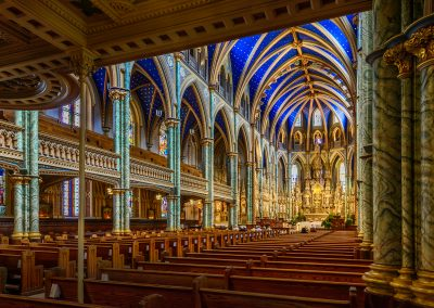Notre Dame Cathedral Basilica. Shot from the back right corner