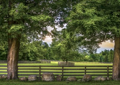 A horse ranch in the Caledon Hills. Taken on a late spring evening.